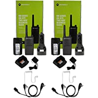 QTY 2 Motorola RMU2040 UHF 2 watt 4 channel radio and Surveillance Headset