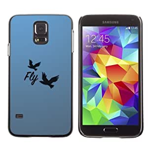 Designer Depo Hard Protection Case for Samsung Galaxy S5 / Beautiful Message Fly