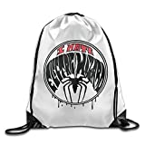 ZQND I Hate Spider Lightweight Drawstring Gym Bag Backpack White Size