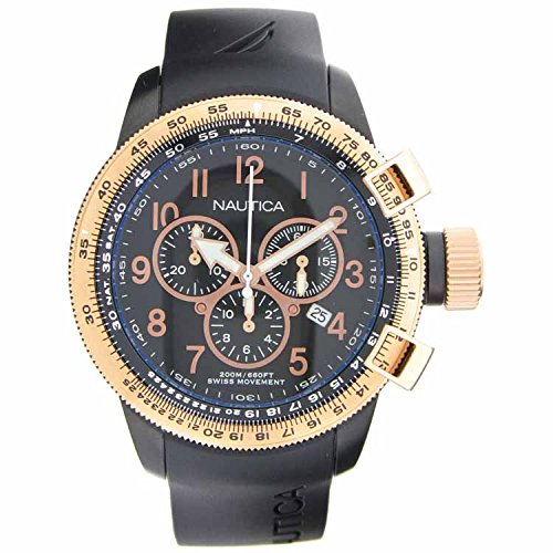 Mens Nautica A31506G watch comes with a chronograph, tachymeter, date and water resistance