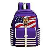Great Funny German Sheepdog Mask Shoulder Book School Backpack Bags Satchel Handbag