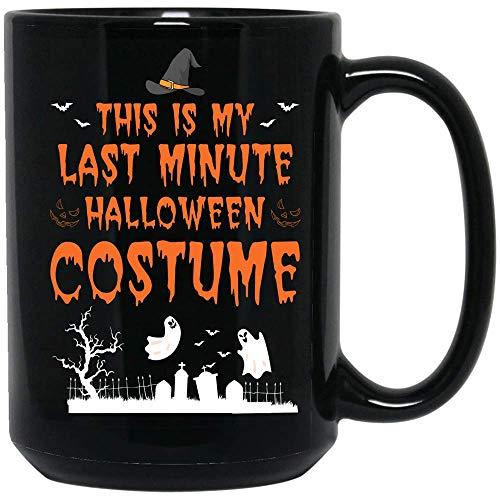 Coffee Mug Last Minute Halloween Costume Coffee Mug Witch Ghost Coffee Mug Ceramic (Black, 15 OZ)]()