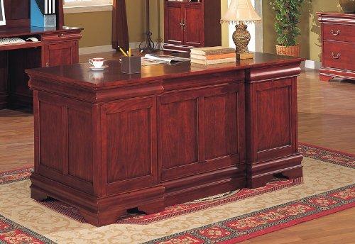 Louis Phillipe Style Cherry - New cherry wood finish louis phillipe style desk set for your home or office