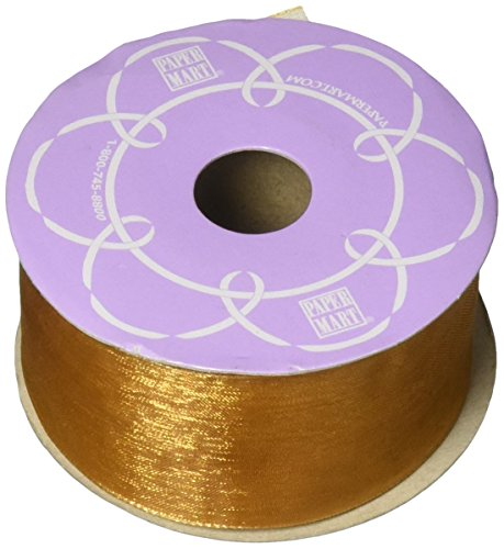 Old Gold Shimmer Sheer Organza Ribbon, 1-1/2