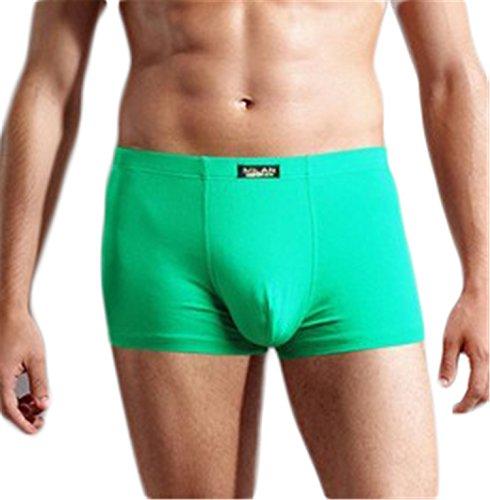 [Mens Underwear Boxer Cotton Casual Male Men's Short Masculina De Marca Man Underpants Solid Color Plus Size Green] (C Viper Costumes)