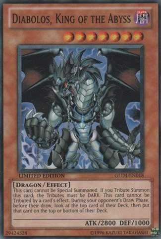Yu-Gi-Oh! - Diabolos, King of the Abyss (GLD4-EN018) - Gold Series 4: Pyramids Edition - Limited Edition - Common