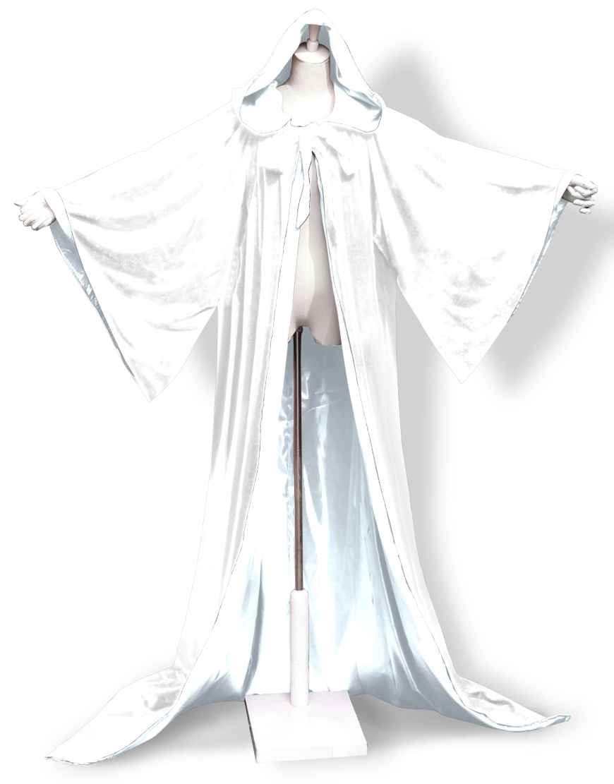 Halloween Velvet Robe Wizard Hood Cloak Wicca LARP LOTR