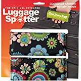 COLORFUL FLOWERS Luggage Spotter Luggage Locator/Handle Grip/Luggage Grip/Travel Bag Tag/Luggage Handle Wrap (2 PACK) – GREAT GIFT!