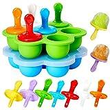 WARMWIND Silicone Pop Mold, Silicone Ice Popsicle, Non-Stick Ice Pop...