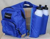 Horn Pommel Bag Saddle Trail Riding With 2 Water Bottles Blue