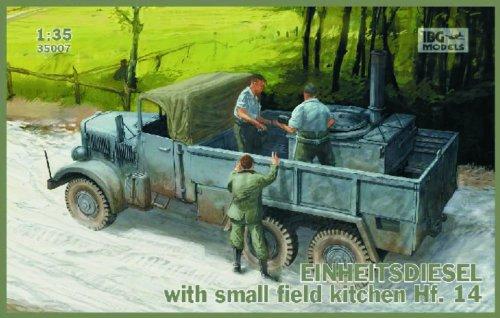 IBG Models 1/35 WWII Einheits Diesel German Cargo Truck with Hf14 Small Field Kitchen