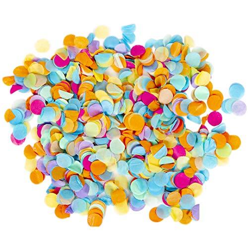 Andaz Press Tissue Paper Confetti 1-Inch Round Circles, Rainbow in Bulk 5.3oz Pack, Rainbow Unicorn, Hawaiian Luau, Circus Animal, Carnival, Llama Birthday Party Confetti Balloon Decorations