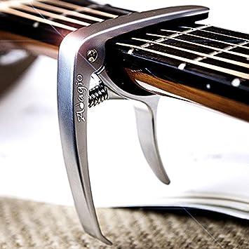 Cejilla Adagio profesional, de alta calidad, para guitarras acústicas y eléctricas, con desbloqueo