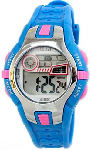 Boys Girls Outdoor Digital Quartz Waterproof Jelly Colorful Sports Watches For 7-15 Years Old Light Blue