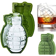 3D Grenade Shape Ice Cube Mold Maker Bar Party Silicone Trays Mold Gift Tool (1pack)