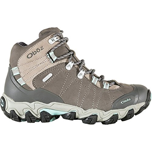 Oboz Women's Bridger Mid BDry Waterproof Hiking Boots, Cool Grey Black 9 by Oboz