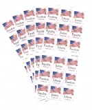 USPS Forever Stamps Four Flags 90 Stamps - 5 x ATM Booklets of 18