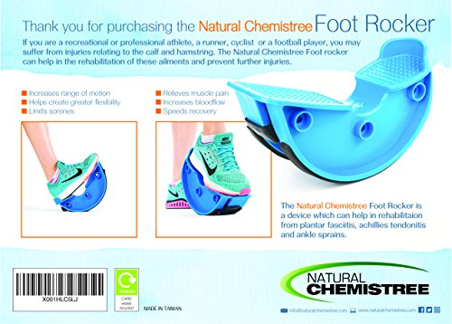 Foot Rocker. Durable Calf Stretcher Device for Achillies Tendonitis. Improve Plantar Fasciitis, Calf Flexibility, Ankle Mobility. Feet and Shin Splint Relief. Great for Physical Therapy, Athletes, Phy by Natural Chemistree (Image #6)
