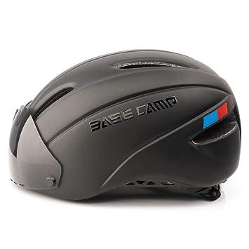 Basecamp Zoom Cascos ciclismo con visera protectora removible (Negro Mate)