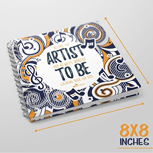 Made With Tone, Mandala Coloring Book for Kids, a Book with Music Inspired Pages for Boys and Girls, Musical Sheets for Paint! Orange Cover!