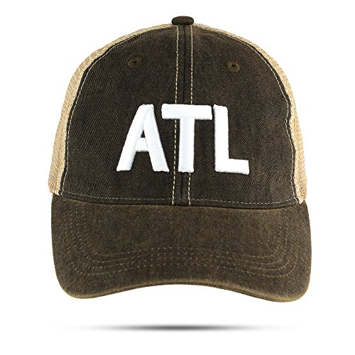 ATL Trucker Hat Atlanta Airport Code Unstructured Baseball Cap Embroidered