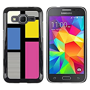 Exotic-Star ( Clean Pattern Fuchsia Yellow Lines ) Fundas Cover Cubre Hard Case Cover para Samsung Galaxy Core Prime / SM-G360