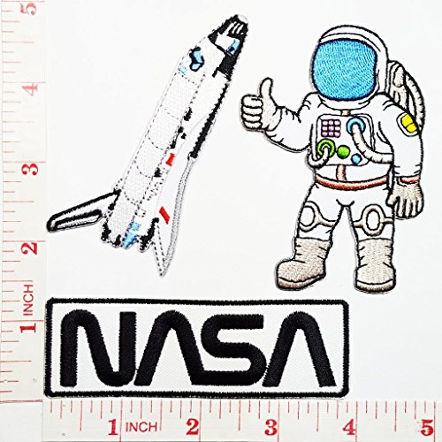 Spaceman Astronaut NASA TV Show Cartoon Kid patch Jacket Polo T- shirt DIY Applique Embroidered Sew Iron on (Curious George Astronaut Costume)
