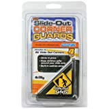 Camco 42203 Black Slide-Out Corner Guard - Pack of 4 by Camco