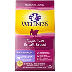 Wellness Complete Health Natural Dry Small Breed Healthy Weight Dog Food, Turkey & Rice, 4-Pound Bag