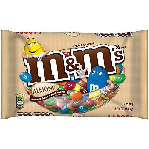 M&M's with Almond Candy, 15.9-Ounce Packages (Pack of 4) by M&M'S (Image #1)