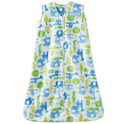 Halo SleepSack Micro-Fleece Wearable Blanket, Blue Jungle, Small by Halo