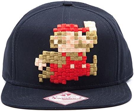 Nintendo Super Mario Bros Pixel 8-bit Mario Snapback Gorra de ...