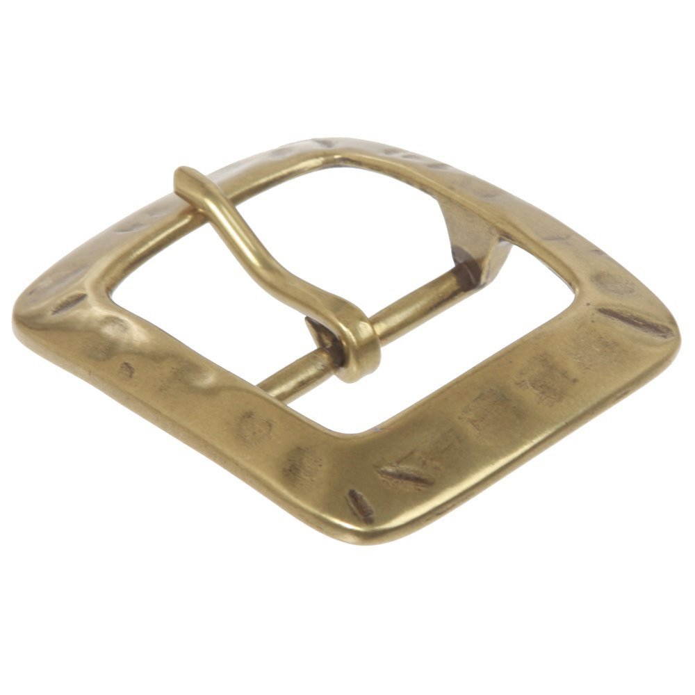 BBBelts Men Brass Single Prong Center Bar Rectangular Buckle For 1-1//2 Belts