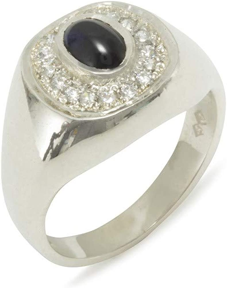Natural Sapphire Sterling Silver Ring