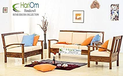 hariom handicraft sheesham wood sofa set for living room wooden