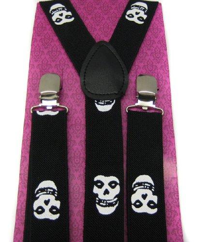 Braces Suspender Misfits Unisex Emo Goth