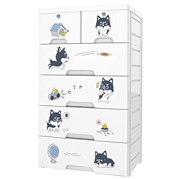 Amazon.com: Olpchee Plastic Large Drawer Chest for Kids with ...