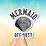 Decals Mermaid Off Duty Sticker, Car Stickers, Laptop Stickers, Stickers, Happy Planner, Little Mermaid, Mermaid Stickers, Vinyl Stickers
