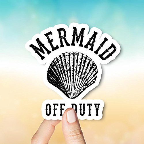 Decals Mermaid Off Duty Sticker, Car Stickers, Laptop Stickers, Stickers, Happy Planner, Little Mermaid, Mermaid Stickers, Vinyl Stickers by Decals