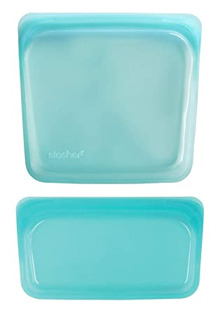 Stasher - Bolsa de silicona reutilizable para cocinar Transparente 19.05 cm x 19.05 cm and 11.45 cm x 19.05 cm agua