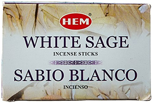 Hem White Sage Tubes Incense, 20g, Box of Six