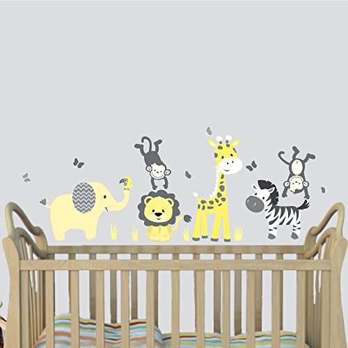 Yellow Jungle Animal Decals Stickers