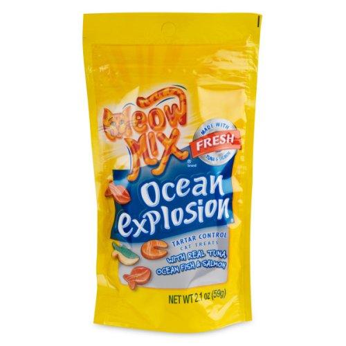 [10 PACK] MEOW MIX TARTAR CONTROL CRUNCHY CAT TREATS,OCEAN EXPLOSION