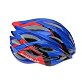 Mysenlan Cycling Helmet 047 Black for Men and Women (Blue+Red)