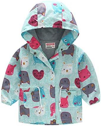 Toddler Kids Baby Girls Boys Hooded Zipper Cartoon Sweatshirt Cotton Lining Coat Autumn Winter Outfits Outwear
