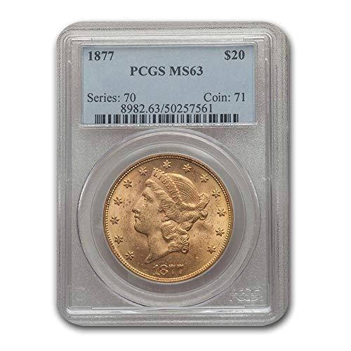 1877 $20 Liberty Gold Double Eagle MS-63 PCGS G$20 MS-63 PCGS