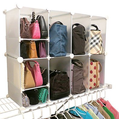Park Storage - Park-a-Purse Tote and Clutch Organizer | Easy no-tools assembly - 10 compartments