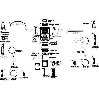 Rvinyl Rdash Dash Kit Decal Trim for Nissan Altima 2005-2006 - Carbon Fiber 3D (Black)