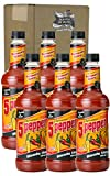 Master of Mixes 5 Pepper Extra Spicy Bloody Mary Drink Mix, Ready to Use, 1 Liter Bottle (33.8 Fl Oz), Pack of 6