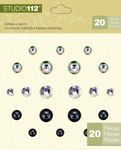 (K&Company Studio 112 Stickers, Dark and Light Round Gems)